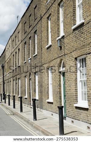 Victorian Terraced Houses, London - stock photo
