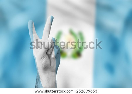 victory for Guatemala - stock photo