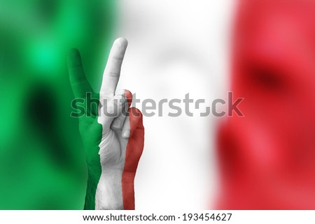 victory for Italy - stock photo