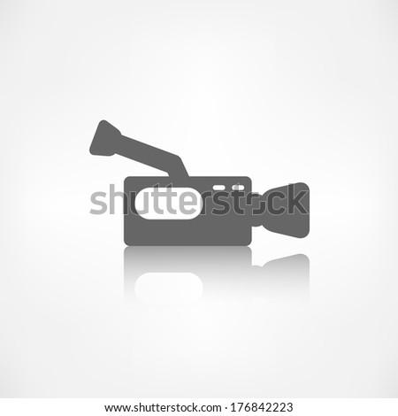 Video camera icon. Media symbol. - stock photo