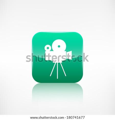 Video camera icon. Media symbol. App button. - stock photo