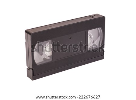 Video cassettes isolated on white background - stock photo