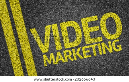 Video Marketing written on the road - stock photo