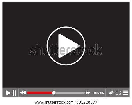 Video media player - stock photo