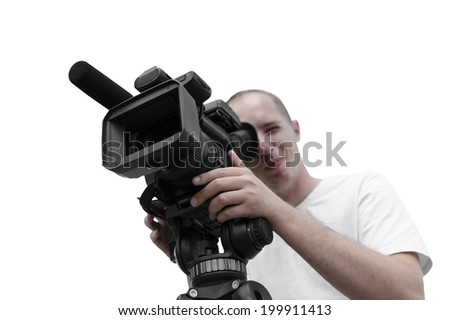 Video operator - stock photo