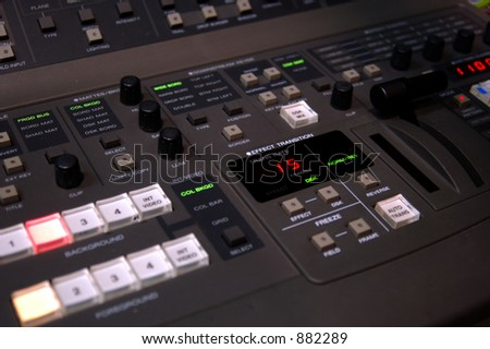 Video production switcher - stock photo