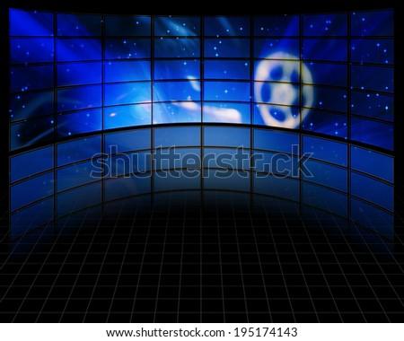 Video Screens - stock photo