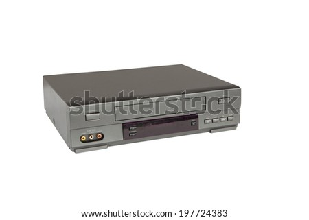 video tape recorder isolated on white background - stock photo