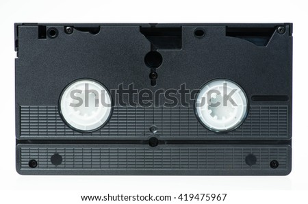 video vhs tape isolated on white - stock photo