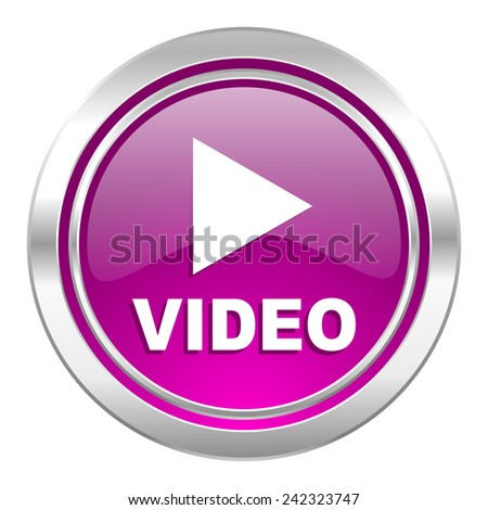 video violet icon   - stock photo