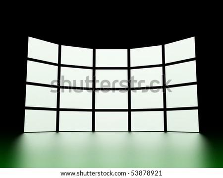 Video wall - stock photo