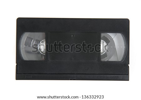 videotape (video cassette) isolated on the white background - stock photo
