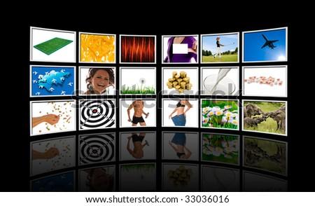 Videowall - stock photo