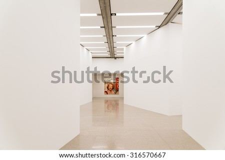 VIENNA, AUSTRIA - AUGUST 06, 2015: James Rosenquist is an American artist and one of the protagonists in the pop-art movement and painted Untitled (Joan Crawford Says) in 1964. - stock photo