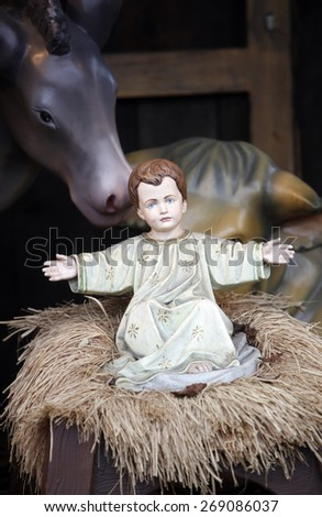VIENNA, AUSTRIA - DECEMBER 11: Nativity Scene from Vienna square in Vienna, Austria on December 11, 2011. - stock photo