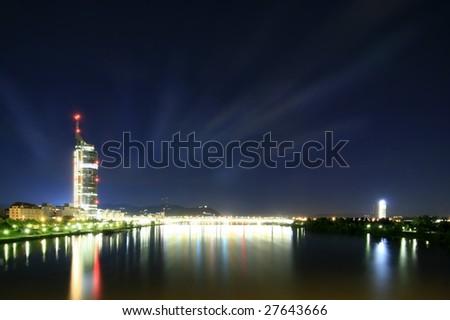 Vienna Milleniumtower - stock photo