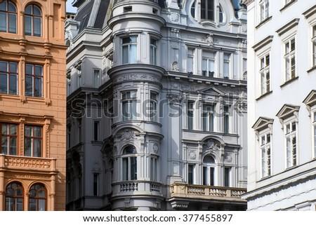 Vienna old architecture - stock photo