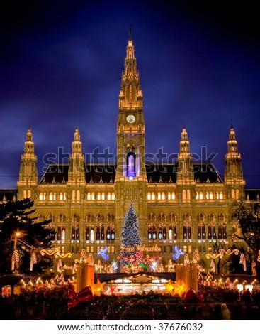 Vienna's City Hall - stock photo
