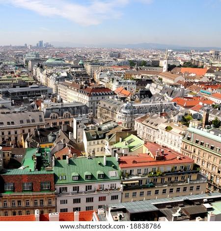 Vienna Skyline - stock photo