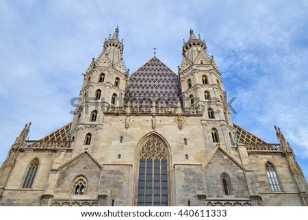 Vienna, St. Stephen's Cathedral (Wien, Stephansdom) - stock photo