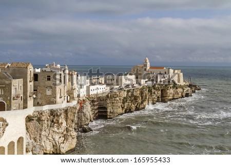 Vieste -  town in Apulia - stock photo