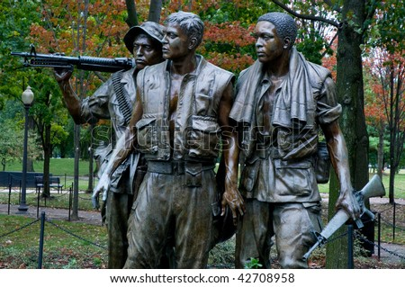 Vietnam Memorial Statue - stock photo