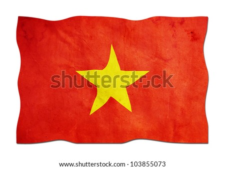 Vietnamese Flag made of Paper - stock photo