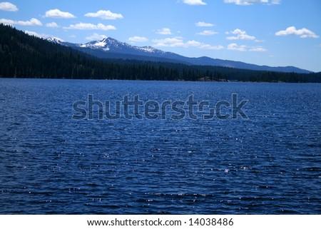 View across Payette lake near north shore, McCall Idaho - stock photo