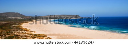View along the coast of Cape Town, South Africa - stock photo