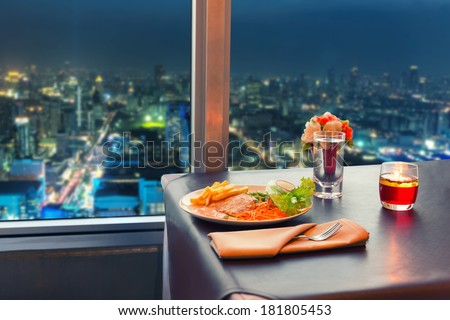 View at night Bangkok - stock photo