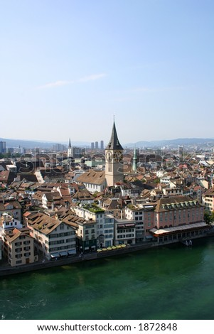 View at Zurich - stock photo