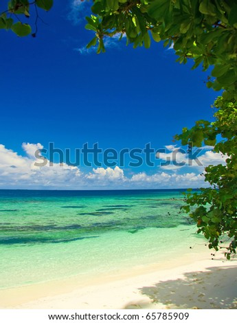 View Beach Beauty - stock photo