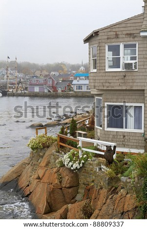 View from a Cliff - Rockport, Massachusetts, USA - stock photo