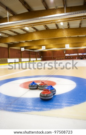 view from a Curling Arena - stock photo