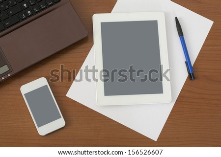 View from above on my Worktable - stock photo