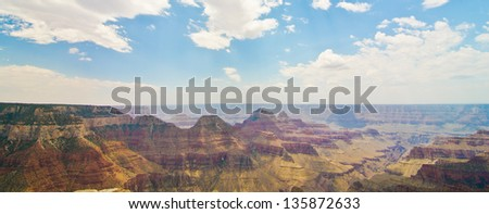 View from Angel Point, North Rim of the Grand Canyon - stock photo