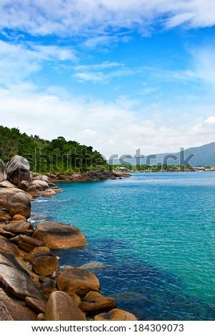 View from Barra da Lagoa - Florianopolis - Brazil. - stock photo