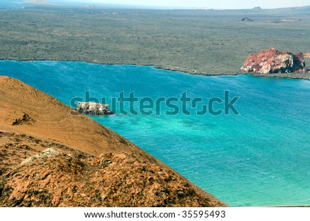 View from Bartolome Galapagos - stock photo