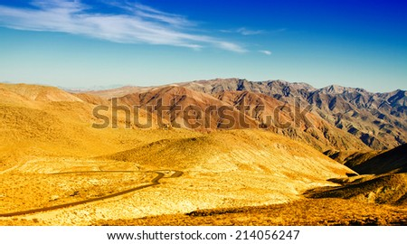 View from Dante's View, Death Valley, California, USA - stock photo