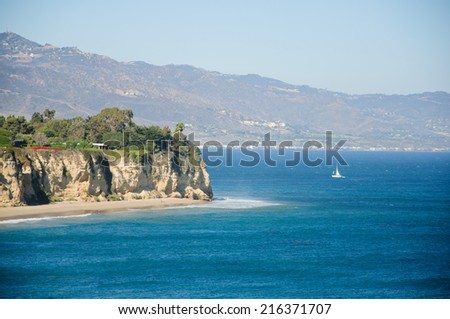 view from Duma Point, Malibu California - stock photo