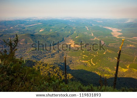 View from God's Window, Mpumalanga, South Africa - stock photo