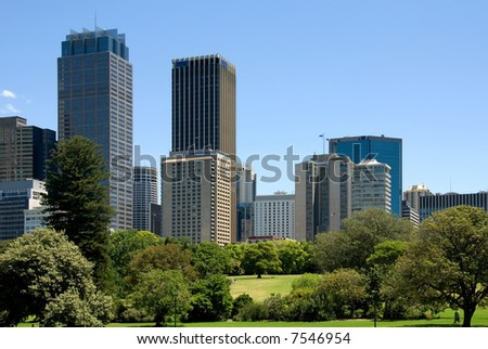 View from Hyde Park - stock photo