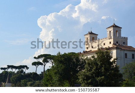 View from Piazza di Spagna - stock photo