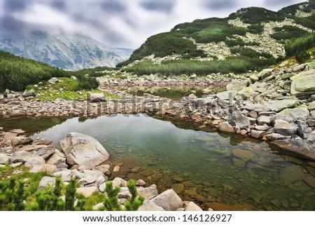 view from Pirin mountain - stock photo