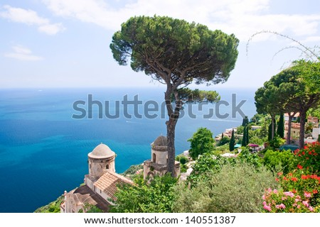 View from Ravello - stock photo