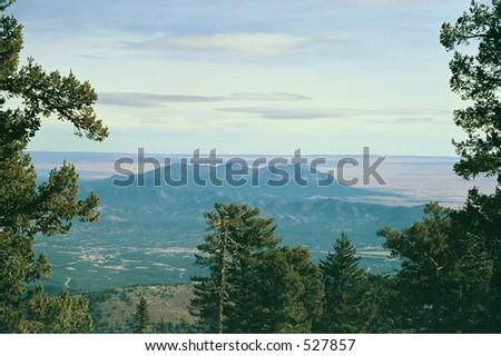View from Sandia Mountains - stock photo