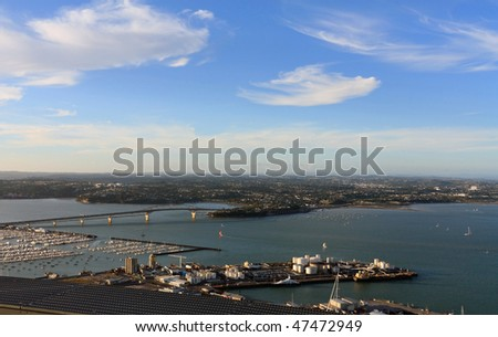 View from skytower , Auckland , New Zealand - stock photo