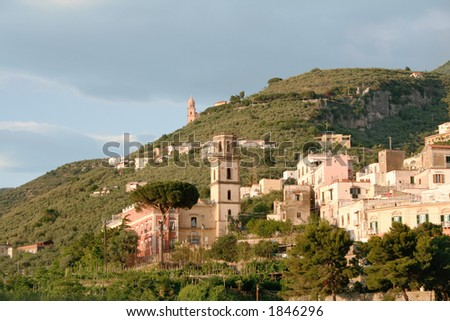 View from Sorrento, Italy - stock photo