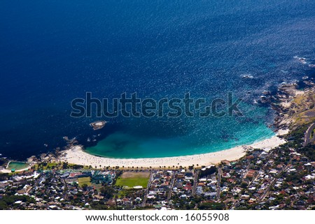 View from Table Mountain in Cape Town South Africa - stock photo