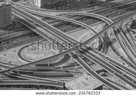 View from the Burj Khalifa - stock photo